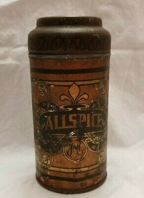 Hoosier Spice Tin from Turn of the century! Original, beautiful Litho! Allspice