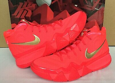 a215e570f173 2018 Nike Kyrie 4 RED CARPET Red Orbit Metallic Gold 943806 602 Men Size  10.5