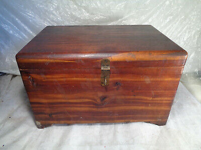 Aafa Hand Signed Made  Wood Chest Box Signed Vintage Antique Needs Tlc