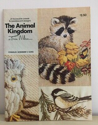 The Animal Kingdom Designs Erica Wilson 21 Traceable Crewel & Needlepoint design