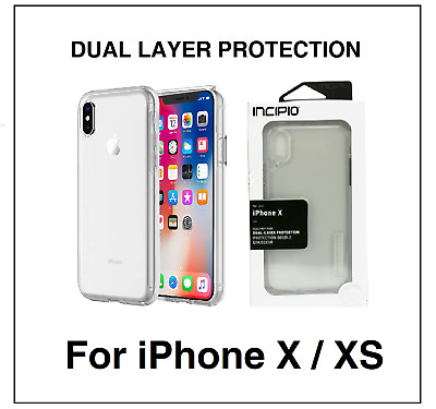Incipio IPH-1635-CLR DualPro Pure Case Cover for iPhone X / XS - Clear