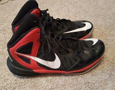 f557ed8f85d1 Mens 10.5 black red Nike prime hype basketball shoes athletic