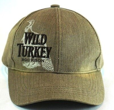 Wild Turkey Bourbon Baseball Cap Truckers Hat Adjustable Embroidered Brown