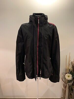 new products 88e41 bad92 SUPERDRY WINDBREAKER JACKE Damen Schwarz/Pink XL