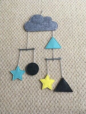 Cot Mobile From John Lewis Grey And Yellow Baby Mobile Cloud And Stars
