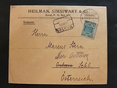 Estonia Eesti 1919 Tallinn To Austria Commercial Cover With First Stamp