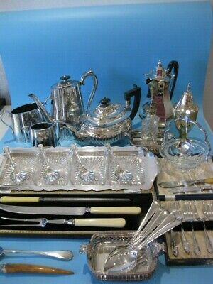 Really Nice Large Job Lot of Antique & Vintage Silver Plated Items & Cutlery