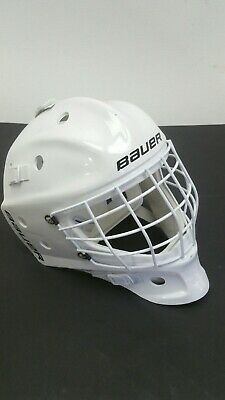 Bauer NME Street Hockey Youth Inline Roller Helmet Sz 6-7 1/8 White w Cage Mask