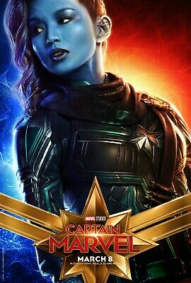 Captain Marvel Movie Poster (24x36) - Gemma Chan, Minn-Erva, Mar-Vell v10