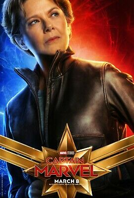 Jude Law Mckenna Grace v2 24x36 - Brie Larson Captain Marvel Movie Poster