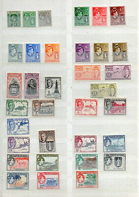 VIRGIN ISLANDS KGV to QEII 34 DIFFERENT MINT HINGED / USED STAMPS