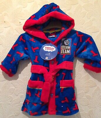 THOMAS THE TANK Infant Hooded Dressing Gown Age 12-18 Months BNWT