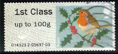 GB 2012 QE2 1st up to 100gms Post & Go Christmas Robin ( T971 )