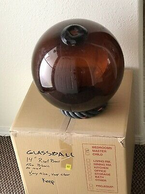 Vintage 14 inch diameter, Large Japanese Glass Fishing Float, Unmarked. (#287)