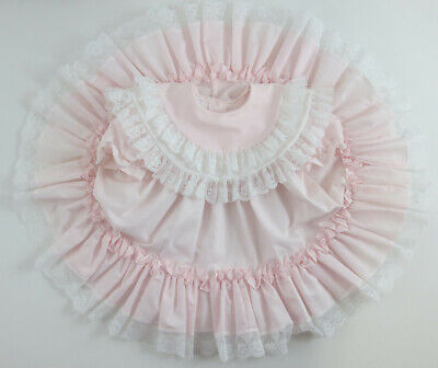 Vintage Dress Mini World Size 4T Short Sleeve Pink Ruffle Lace Party Dress