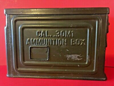 Vintage WWII Owens Illinois Can Company 30 Cal M1 Ammunition Box Flaming Bomb
