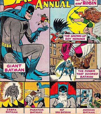 "BATMAN ANNUAL #5 80 PAGES DC COMICS BOOK ""The Strange Lives of..."" (1963)"