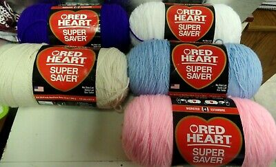 Red Heart Super Saver  14 Oz--Worsted 4--5 Colors To Choose From