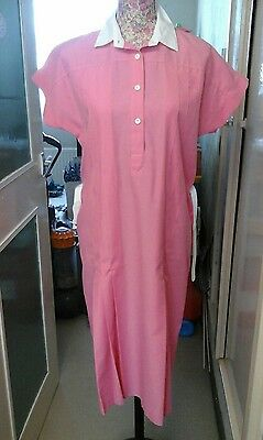 LADIES VINTAGE ST MICHAEL 70s PINK DRESS WITH BELT SIZE 12 GREAT CONDITION