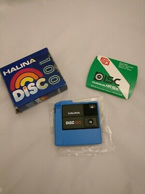 Halina Disc 100 Disc film camera with box and instructions