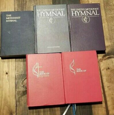 The Book Of Hymns United Methodist Church Lot of 5 HC Hymnal 1939 1966 1989 1996