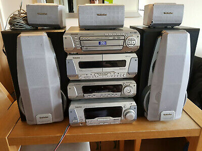 Technics Hi Fi Surround Sound Stacking System with 5 DVD/CD Player