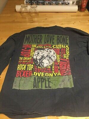 MOTHER LOVE BONE - Long Sleeve t-shirt - XL - 1990 promo item - Rare (Pearl Jam)