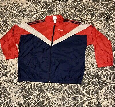 Vintage adidas Nylon Windbreaker Jacket '80s sz XL