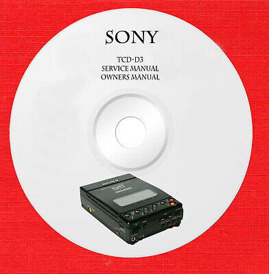 Service manual owner manual for Sony TCD-D3 on 1 cd in pdf format