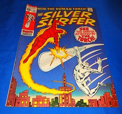Silver Surfer #15  Human Torch Appearance Nice LOOK !!!