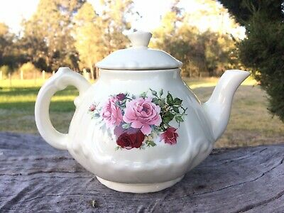 Vintage Floral Teapot - Unused - Cute And Pretty