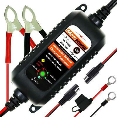 MOTOPOWER MP00205A 12V 800mA Fully Automatic Battery Charger/Maintainer for...