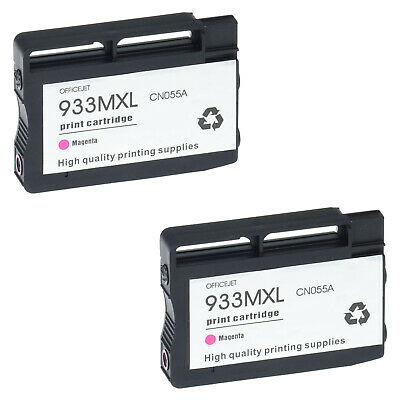 2 PK 933XL Ink for HP OfficeJet 6600 6700 7610 6100 7110 7612 Magenta High Yield