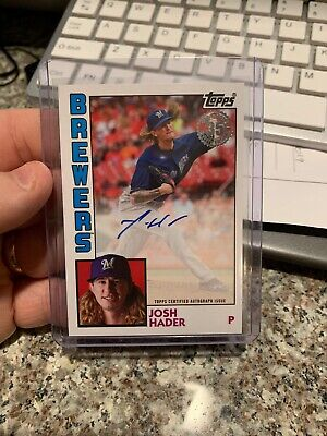 2019 Topps Series 1 JOSH HADER 1984 On Card Auto Brewers Autograph