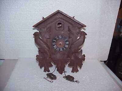 Vintage 30 Hour Bird & Maple Leaf Euramco Incomplete Cuckoo Clock parts repair C