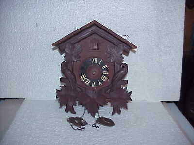 Vintage 30 Hour RHS Bird & Maple Leaf Incomplete Cuckoo Clock parts repair D