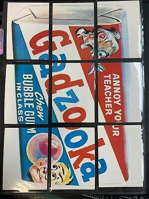 1974  Topps Wacky Packages Rare Puzzle Checklist Complete Set 1st Series Fresh