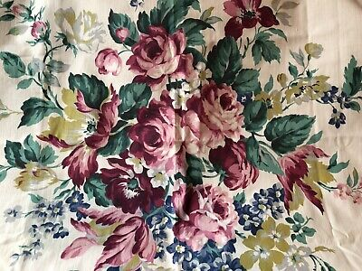 Floral Chintz VAT Colors Pre 1960 Roses 36 Wide By 56 Long