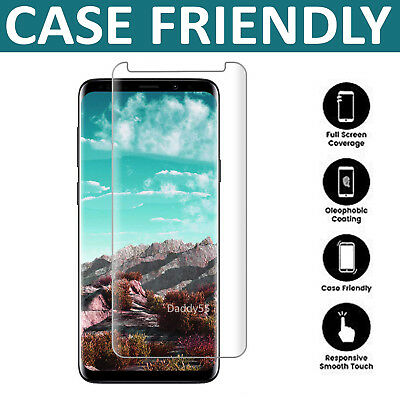 For Samsung Galaxy S9 3D Full Curved Tempered Glass LCD Screen Protector Clear