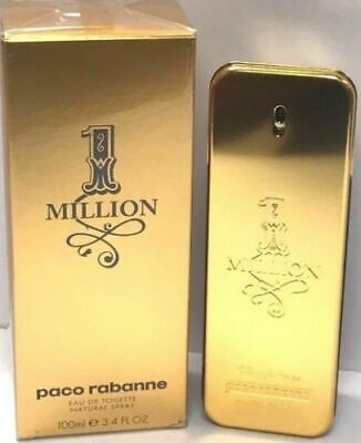 1 One Million Paco Rabanne EDT Spray For Men 3.4 oz/100 ml New In Sealed Box