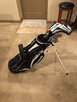 Full Taylormade Golf Iron Set with Taylormade Stand Bag R1 Burner