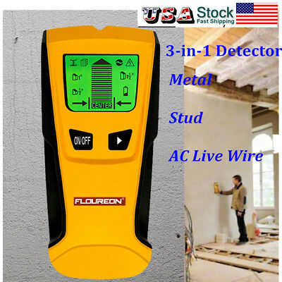 Floureon LCD Stud Center Finder AC Live Wire Scanner Wall Metal Detector