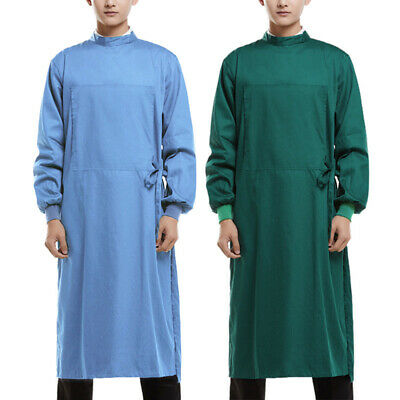 Unisex Surgical Gown Hospital Uniform Long Sleeve Workwear Breathable Clothes