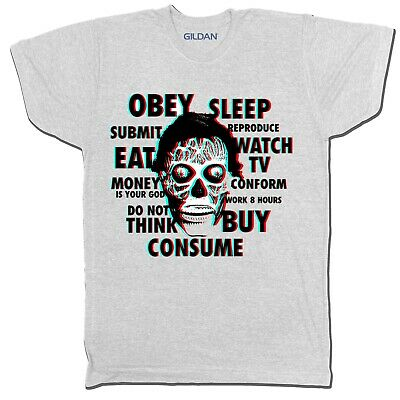 They Live Film Movie Cosplay Action Horror Chinese Japanese T Shirt