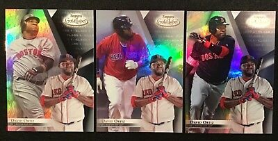 2018 Topps Gold Label David Ortiz Class 1, 2, & 3 Cards Boston Red Sox