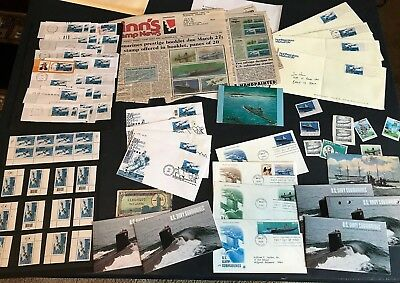 SUBMARINES US Navy STAMPS Postcards FDC Covers #3373-77 Booklet BK279 2000 Ships