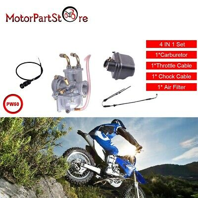 Carburetor for Y-Zinger Yamaha PW50 W/ Air Filter Throttle / Choke Cable