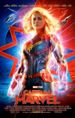 🔥 Captain Marvel 13 X 20 Poster Double Sided End Game Marvel Official New 🔥