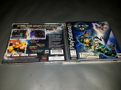 ATTENTION CASE AND MANUAL ONLY Wild 9 (Sony PlayStation 1) ***NO GAME***