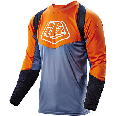 NEW Troy Lee Designs MX Radius Grey/Orange Adventure Motocross Enduro Jersey